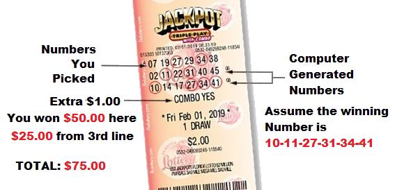Florida Jackpot Triple Play Payouts